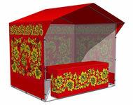 Палатка Хохлома Красная